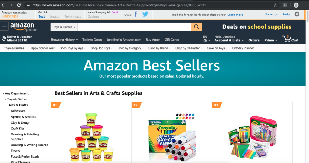 shop on Amazon for deals