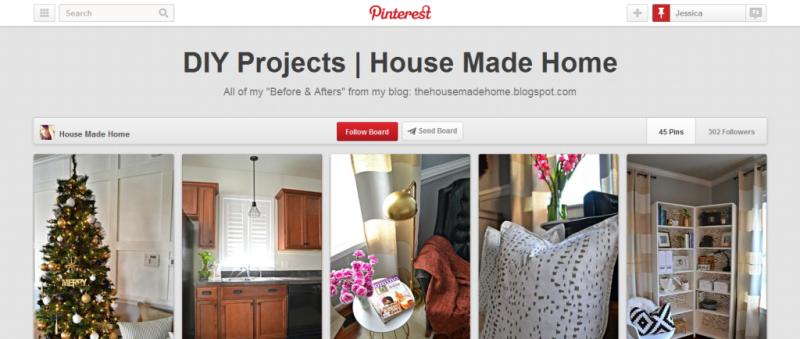 Pinterest board example